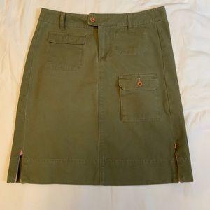 Anthropologie G1 Basic Goods Cargo Khaki Skirt 4